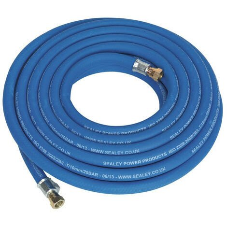 "Sealey AH10R/38 10mtr x Diameter 10mm Extra Heavy-Duty Air Hose with 1/4""BSP Unions"