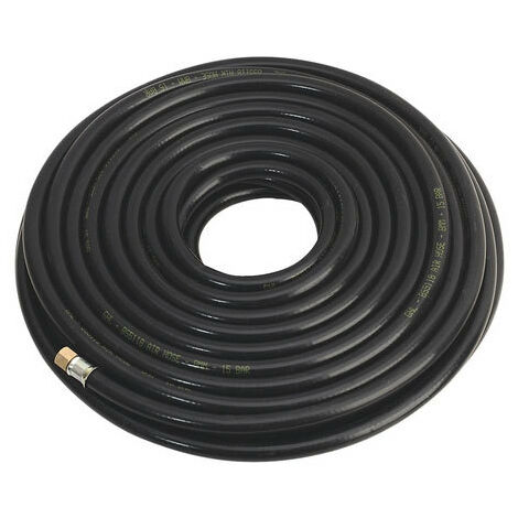 "Sealey AH30RX 30mtr x Diameter 8mm Heavy-Duty Air Hose with 1/4""BSP Unions"