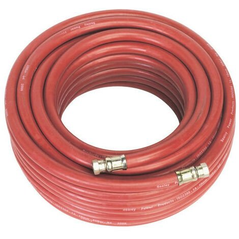 "Sealey AHC2038 20mtr x Diameter 10mm Air Hose with 1/4""BSP Unions"