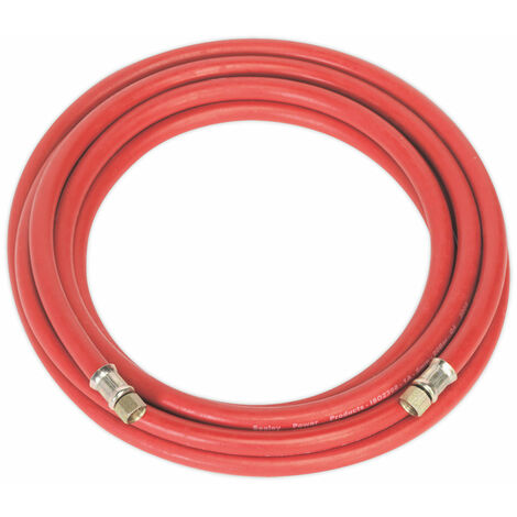 Sealey AHC5 Air Hose 5m x Ø8mm with 1/4in.bsp Unions