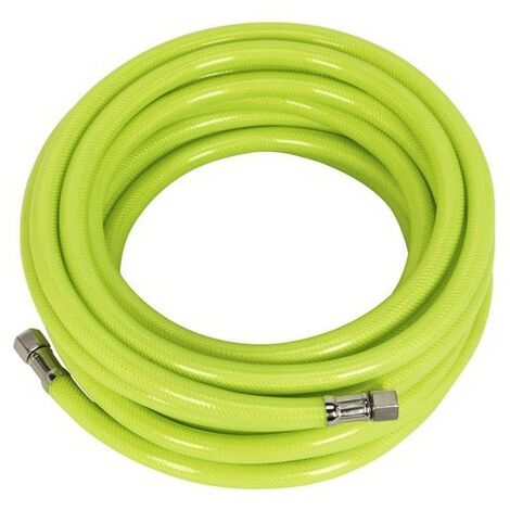 "Sealey AHFC10 Air Hose High Visibility 10mtr x 8mm with 1/4""BSP Unions"