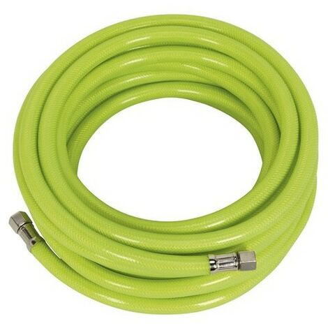 "Sealey AHFC1538 Air Hose High Visibility 15mtr x 10mm with 1/4""BSP Unions"
