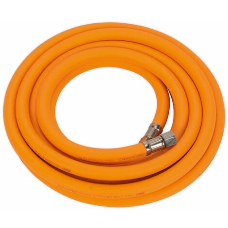 "Sealey AHHC5 Air Hose 5m x Ø8mm Hybrid High Visibility with 1/4""BSP Unions"
