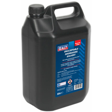 Sealey AK05 Degreasing Solvent Emulsifiable 5L