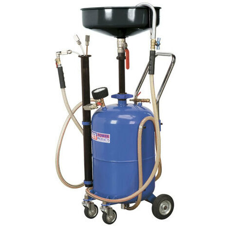 Sealey AK456DX 35ltr Air Discharge Mobile Oil Drainer with Probes