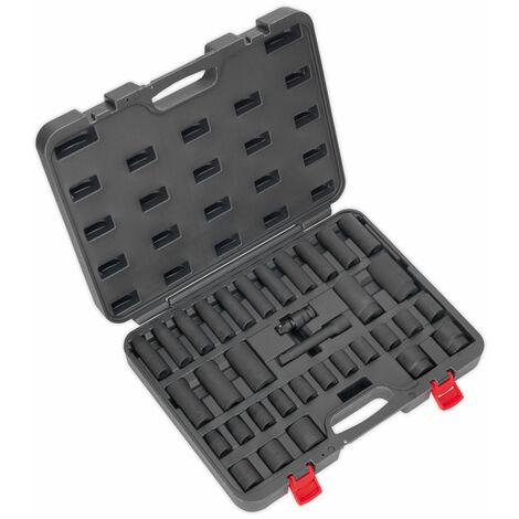 """Sealey AK5634M Impact Socket Set 34pc 1/2""""Sq Drive Metric"""