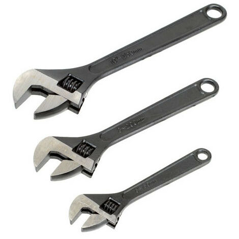 Sealey AK607 3pc Adjustable Wrench Set Rust Resistant
