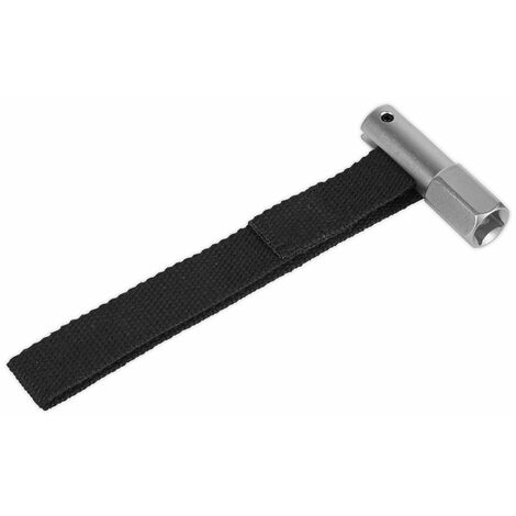 """Sealey AK640 Oil Filter Strap Wrench 120mm Capacity 1/2""""sq Drive"""
