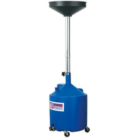 Sealey AK80D Mobile Oil Drainer 80L Gravity Discharge