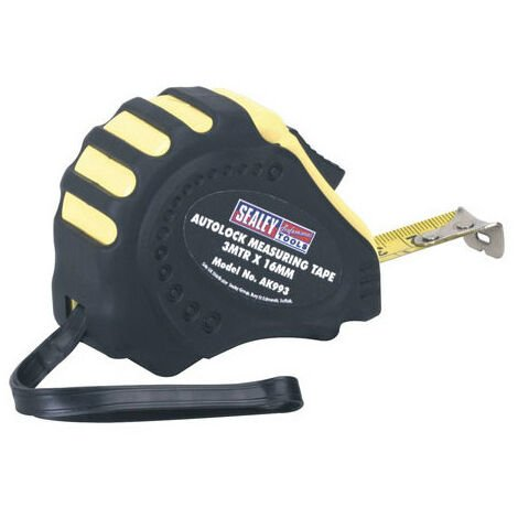 Sealey AK993 3mtr(10ft) x 16mm Autolock Measuring Tape - Metric/Imperial