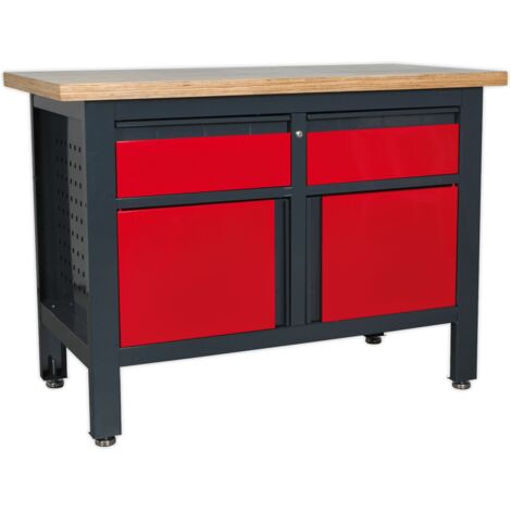 """main image of """"Sealey AP1372A Workstation with 2 Drawers & 2 Cupboards"""""""