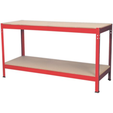 Sealey AP1535 Workbench 1.53m Steel Wooden Top