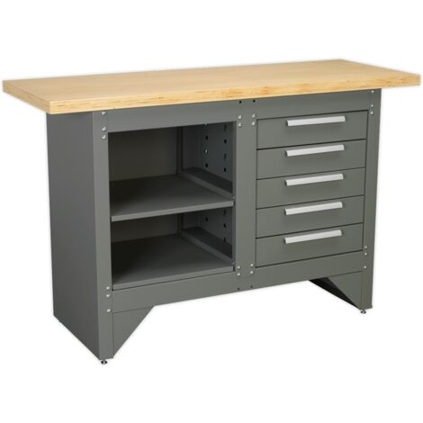 """main image of """"Sealey AP2030BB Workbench with 5 Drawers Ball Bearing Slides Heavy-Duty"""""""
