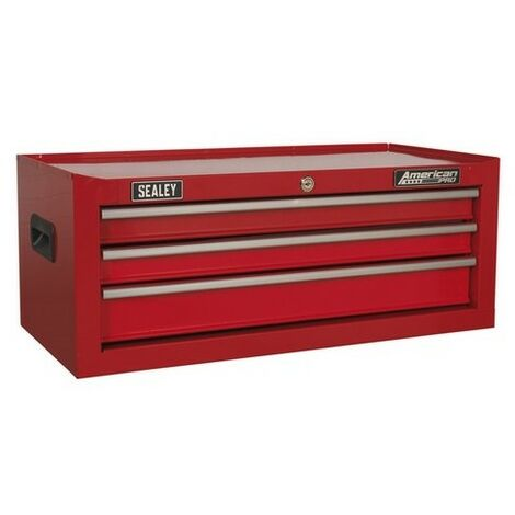 Sealey AP223 Mid-Box 3 Drawer with Ball Bearing Slides - Red