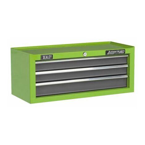 Sealey AP22309BBHV Mid-Box 3 Drawer with Ball Bearing Slides - Green/Grey