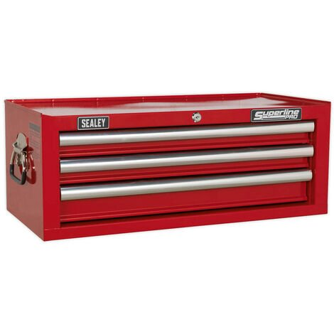 Sealey AP33339 Mid-Box 3 Drawer with Ball Bearing Slides - Red