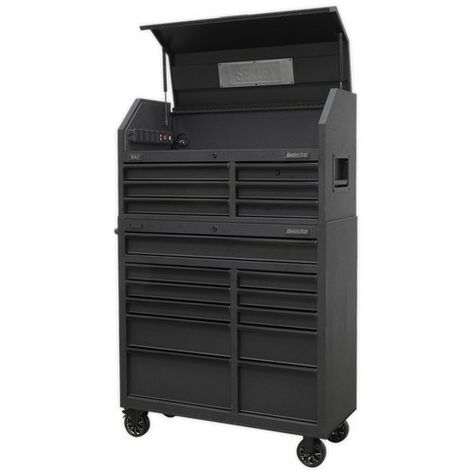 Sealey AP41BESTACK 17 Drawer Tool Chest Combination Soft Close Drawers with Power Bar