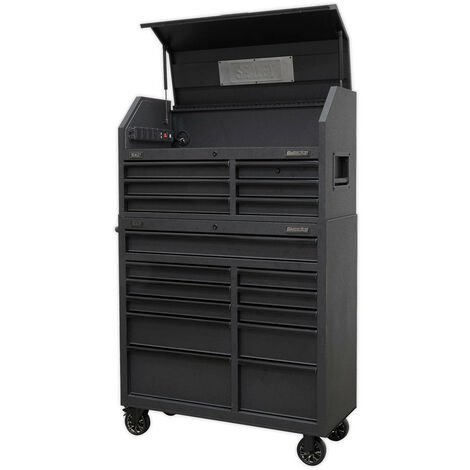 Sealey AP41BESTACK Tool Chest 17 Drawer Combination Soft Close Drawers with Power Bar