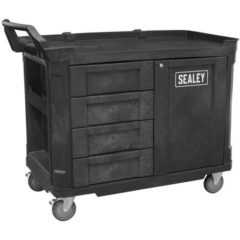 Sealey AP47PWS Mobile Workstation 4 Drawer & Cupboard 1210mm