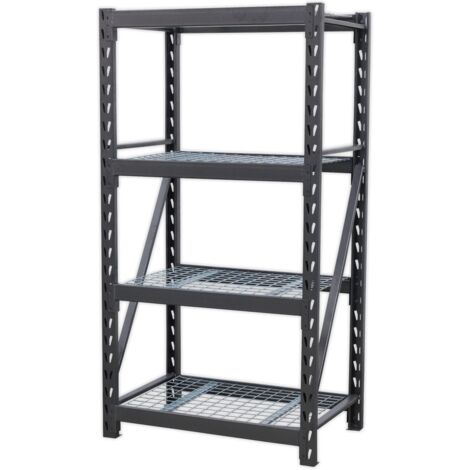 """main image of """"Sealey AP6372 Heavy-Duty Racking Unit with 4 Mesh Shelves 640kg Capacity Per Level 978mm"""""""