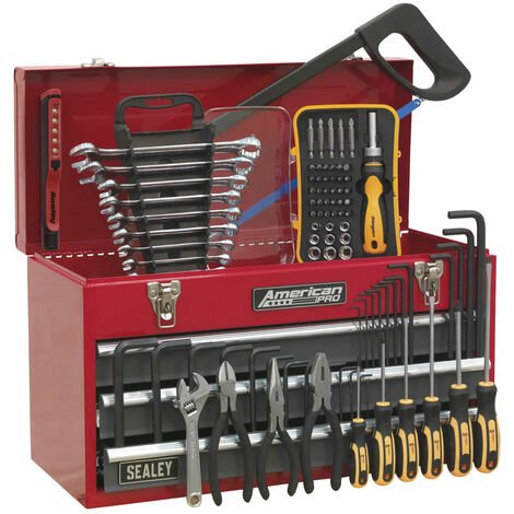 Sealey AP9243BBCOMBO Portable Tool Chest 3 Drawer - BB Runners + 93pcs Tool Kit