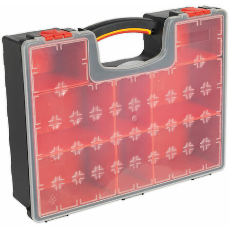 Sealey APAS3R Parts Storage Case with 8 Removable Compartments