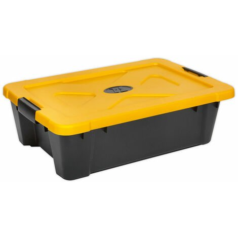 Sealey APB27 Composite Stackable Storage Box with Lid 27ltr