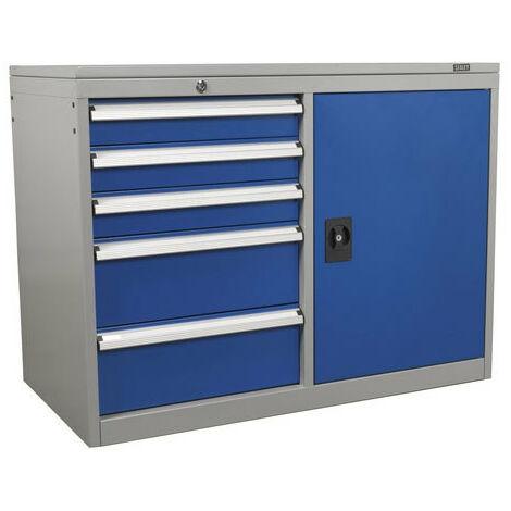 Sealey API1103B 5 Drawer & 1 Shelf Industrial Cabinet/Workstation