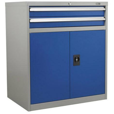 Sealey API8810 2 Drawer & 1 Shelf Double Industrial Locker Cabinet
