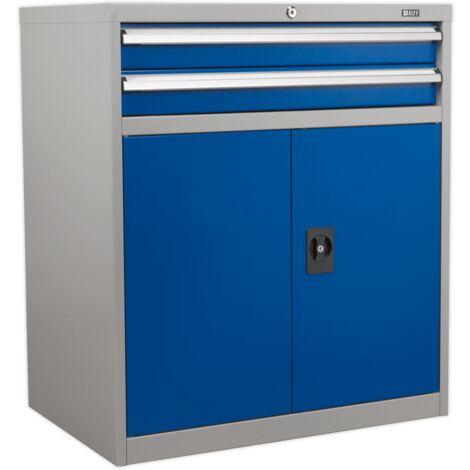 Sealey API8810 Industrial Cabinet 2 Drawer & 1 Shelf Double Locker
