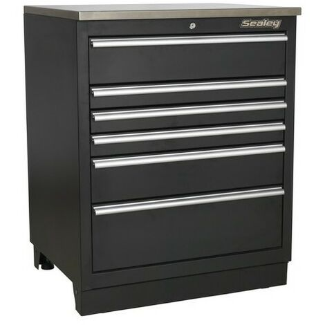 Sealey APMS03 Modular Floor Cabinet 6 Drawer 775mm Heavy-Duty