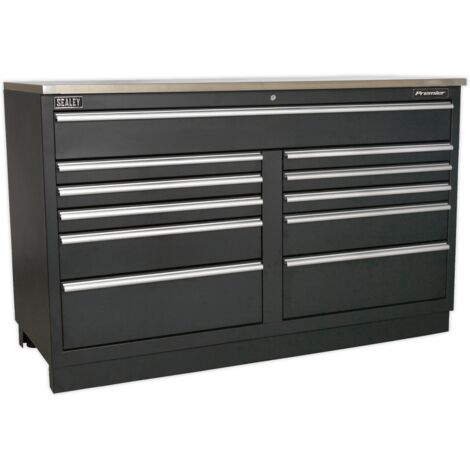Sealey APMS04 Modular Floor Cabinet 11 Drawer 1550mm Heavy-Duty