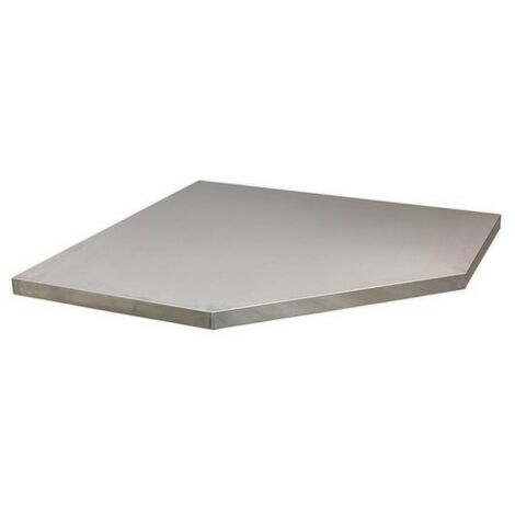 Sealey APMS60SS Stainless Steel Worktop for Modular Corner Cabinet 865mm