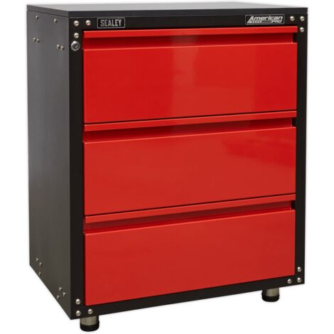 Sealey APMS82 Modular 3 Drawer Cabinet with Worktop 665mm
