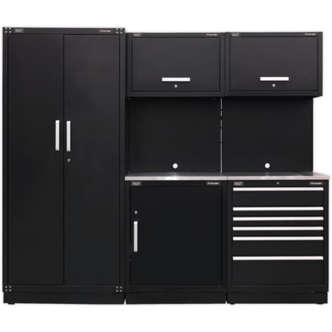 Sealey APMSCOMBO1SS Modular Storage System Combo - Stainless Steel Worktop