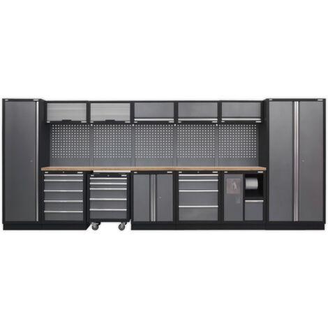 Sealey APMSSTACK01W Modular Storage System Combo - Pressed Wood Worktop