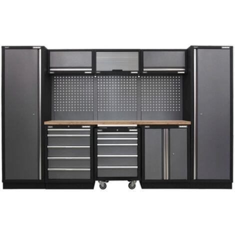 Sealey APMSSTACK03W Modular Storage System Combo - Pressed Wood Worktop