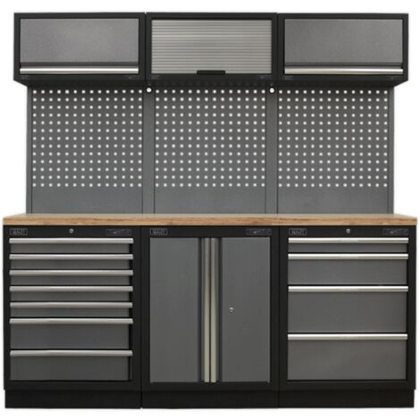 Sealey APMSSTACK07W Modular Storage System Combo - Pressed Wood Worktop
