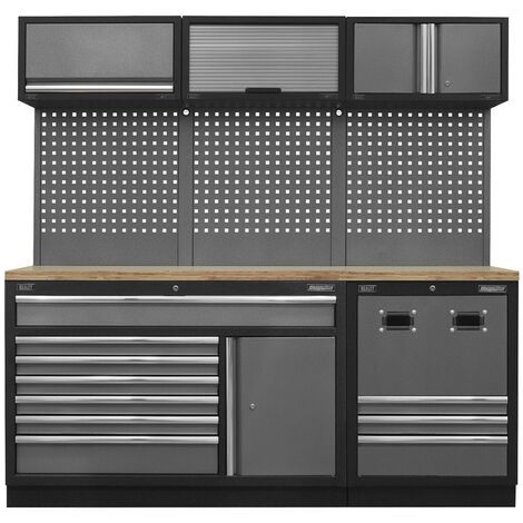 Sealey APMSSTACK14W Modular Storage System Combo with Pressed Wood Worktop (2040 x 460 x 2000mm)