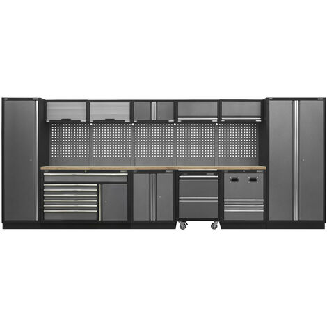 Sealey APMSSTACK16W Modular Storage System Combo with Pressed Wood Worktop (4915 x 460 x 2000mm)