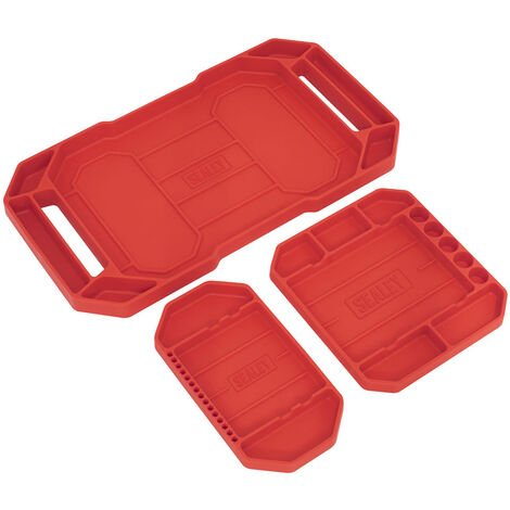Sealey APNST4 Flexible Tool Trays Non-Slip - Pack of 3