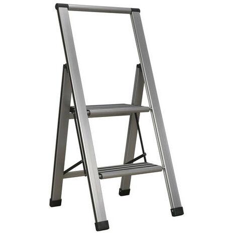 Sealey APSL2 2-Step Aluminium Professional Folding Step Ladder 150kg Capacity