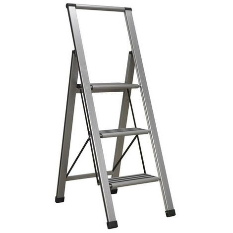 Sealey APSL3 3-Step Aluminium Professional Folding Step Ladder 150kg Capacity