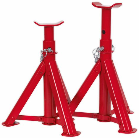 Sealey AS2000F Axle Stands (Pair) 2tonne Capacity Per Stand GS/TUV Folding Type