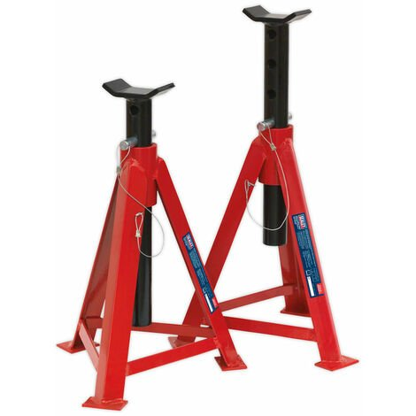 Sealey AS5000M Axle Stands 5tonne Capacity Per Stand 10tonne Per Pair Med Height