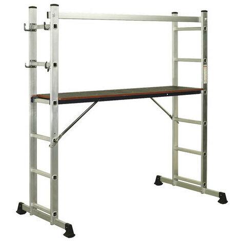 "main image of ""Sealey ASCL2 4-Way Aluminium Scaffold Ladder EN 131"""