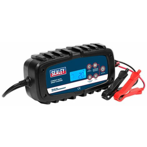 Sealey AUTOCHARGE650HF Compact Auto Smart Charger 6.5A 9-Cycle 6/12V - Lithium