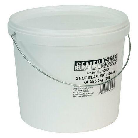 Sealey B5KG 5kg Tub Shot Blasting Beads - Glass