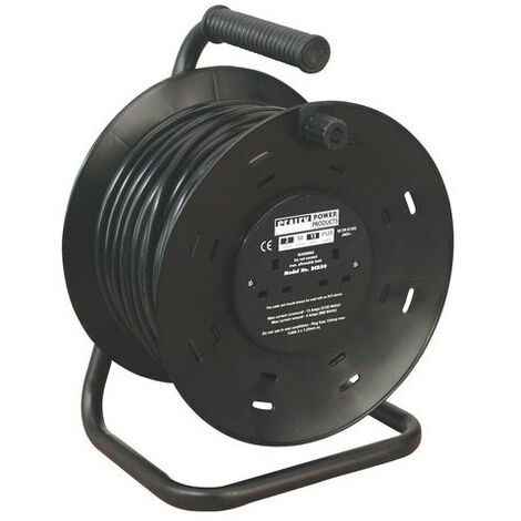 Sealey BCR50 50mtr Cable Reel 2 x 230V Sockets
