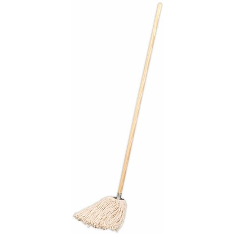 Sealey BM05 Pure Yarn Cotton Mop 340g with Handle